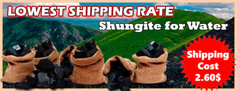 Best Shipping Rate for Shungite for Water