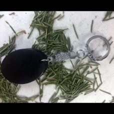 """Keychain """"Oval"""" Shungite"""