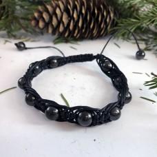 "Shungite ""Oriental"" Arachne Bracelet, 10 mm"