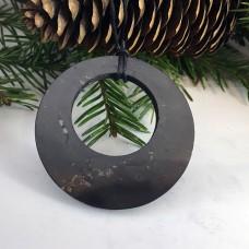 "Pendant ""Circle In Circle"" Of Mineral Shungite"