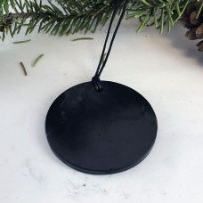 "Pendant ""Circle"" Of Mineral Shungite"