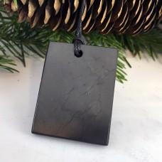 "Pendant ""Shield"" Of Mineral Shungite"