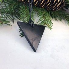 "Pendant ""Triangle"" Female Of Mineral Shungite"