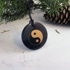 """Pendant """"Yin & Yang"""" Of Mineral Shungite (Circle)"""