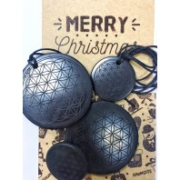 "Christmas set with engraving ""Flower of life"""